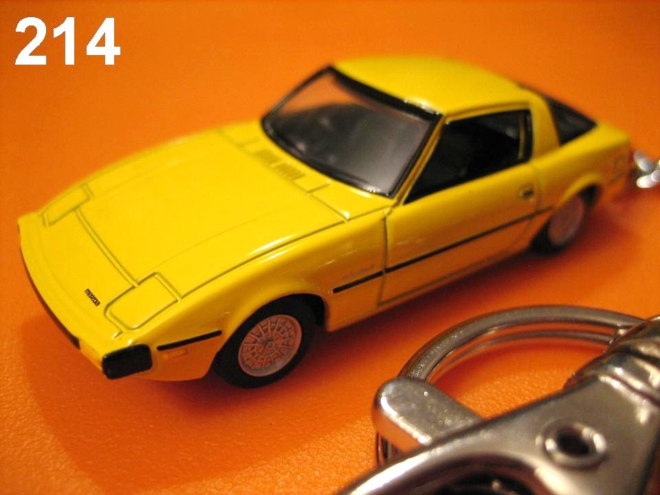 Classic Mazda Savanna RX-7 SA22C '78~(Yellow) Die-cast Key Chain